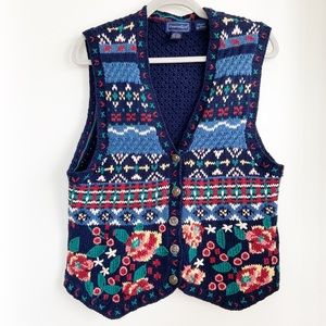 Vintage Fashion- Charter Club Hand Knitted Vest